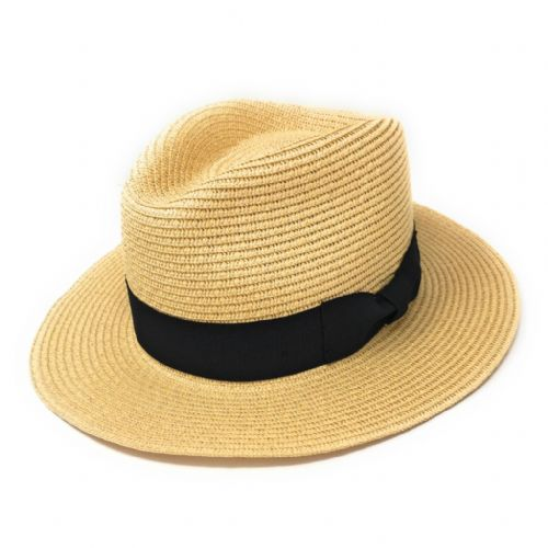 Straw Fedora Summer Hat - Natural